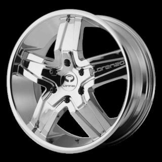 20 Wheels Rims Lorenzo WL30 Chrome Ridgeline Jimmy S10