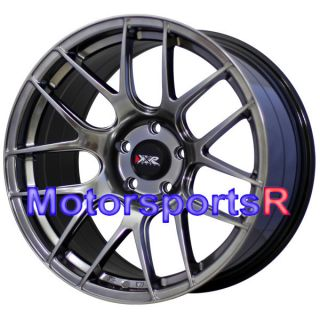 18 XXR 530 Chromium Black Wheels Rims Concave 5x114 3 Staggered Stance