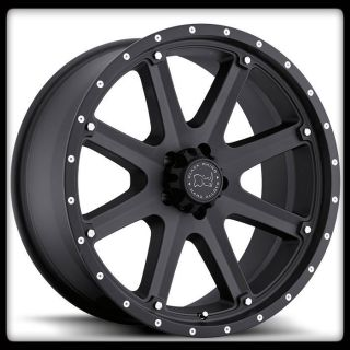MOAB OFF ROAD BLACK RHINO MATTE PATRIOT ARMADA TACOMA F150 WHEELS RIMS