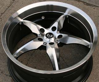 Stern Yoshi 20 H Black Rims Wheels VW EOS Tiguan CC 20 x 8 5 5H 35