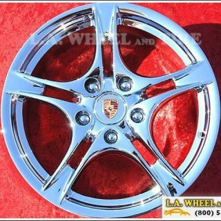 of 4 New 18 Porsche Boxter Cayman Chrome OEM Factory Wheels Rims 67373