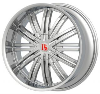 28Red Sport Chrome Wheels 6x139 7 with Tires 295 25 28 Yukon Tahoe