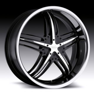 18 inch Milanni Force Black Wheels Rims 5x100 38