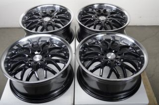 Black 4 Lug Wheels Integra Forenza Accord Civic Tracer Fit Rims