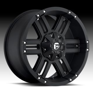 22 x 14 Fuel Gauge Black 505 5 6 8 Lug Wheels Rims