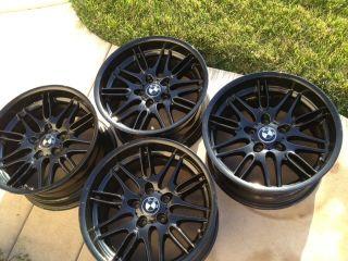 18 x 9 5 5x120 Black Gloss Double Spoke E39 M5 Rims