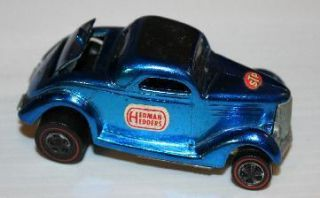 Hot Wheels Redline 1968 Classic 36 Ford Coupe Metallic Blue