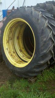 John Deere Tractor 36 inch Rear Rims Tires 50 520 530 Vintage