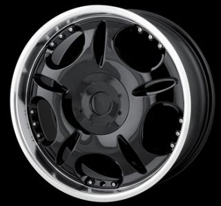 20 x8 5 DIP D19 Black Machined Wheels Rims Free Lugs