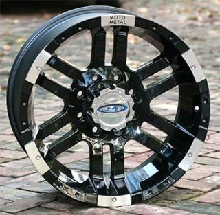 18 inch Black Wheels Rim MOTO METAL 951 Chevy GM HD Dodge 2500 3500