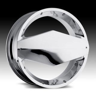 Inch 5x4 5 5x4 75 Chrome Vision Morgana Wheels Rims 5 Lug 20x8 5 38 ET
