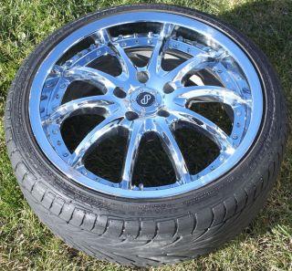 inch Enkei LF 10 Chrome Rims and Tires 4 Wheels 5x114 215 40 18