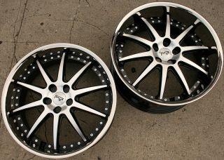 Black Rims Wheels Camaro LS Staggered 09 Up 22 x 9 0 10 5 5H 38