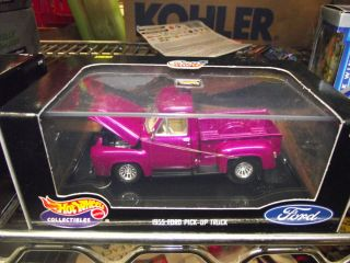 Hotwheels 1 43 1955 Ford Pickup Truck Purple
