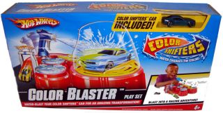 Hot Wheels Color Blaster Playset Change Car Colors