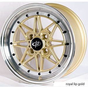 15 ROTA FLASHBACK GOLD RIMS WHEELS 15x6.5 +40 4x100 CIVIC INTEGRA FIT