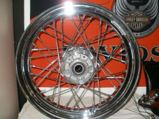 Harley Davidson Chrome 40 Spoke Rear Wheel 16x3 Mint NR