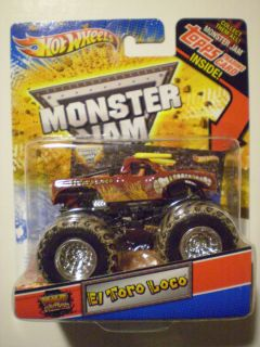 HOT WHEELS 2012 Monster Jam 1 64 EL TORO LOCO Mud Trucks Topps Trading