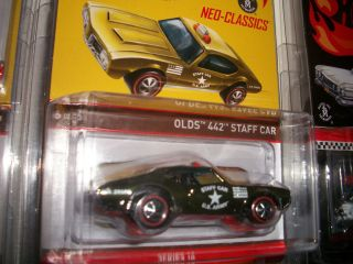 Hot Wheels RLC Olds 442 Staff Car LE 4000 Only Army Staff Neo Classics