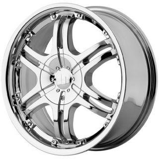16 inch Helo HE832 Chrome Wheels Rims 5x110 5 Lug 42