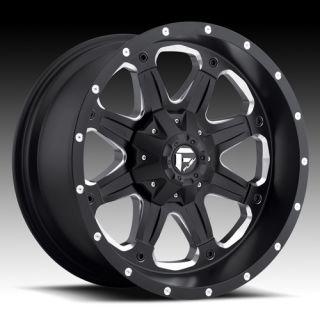 17 Wheels Rims Fuel Off Road Boost Black Machined Escalade Silverado
