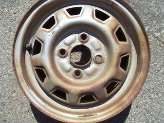 1982 82 1983 83 Honda Civic Steel Wheel Rim 13 Used 63663