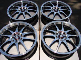 4x114 3 Polishe Wheels Del Sol Lancer Civic Accord Integra 4 Lug Rims