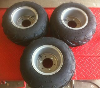 Restored Atc70 wheels and tires Rims Atc 70 Honda 3 wheeler Atv three