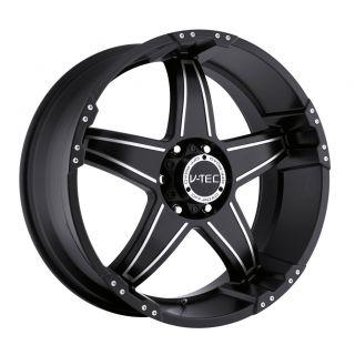 17 inch V Tec Wizard Black Wheels Rims 6x135 12 6 Lug Ford F150