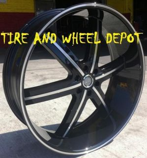 22 INCH U2 WHEELS 55 BLACK RIMS ONLY SILVERADO 2WD 4WD ESCALADE TAHOE