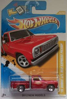 2012 Hot Wheels New Models 78 Dodge LiL Red Express Pickup 34 50