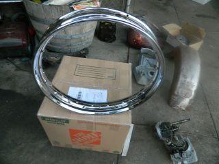 Knucklehead Panhead 45 WL Kelsey Hayes Chrome Front Wheel Rim