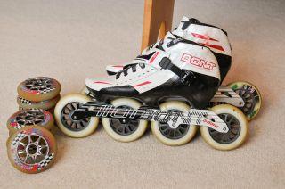 Jet 3pt Inline Racing Skates Size 10 US 44 105mm Wheels Fast