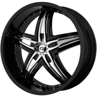 18 Gianna Blitz Black Rims Wheels 18x7 5 45 5x100 Subaru WRX Impreza