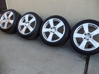 Mercedes OEM E550 E350 wheels rims Factory 265 35 245 40 tires Stock