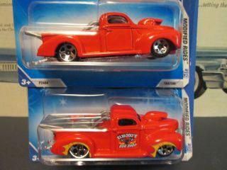 Hot Wheels VHTF No Tampos 40 Ford Pickup Variant set   MONMC