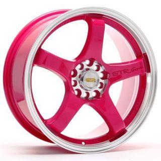Style GTR Pink 4x100 114 3 Acura Honda Toyota Mazda Wheels Rims
