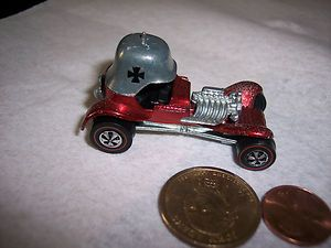 1969 1970 Hot Wheels Redline Red Baron Car 6400 HK