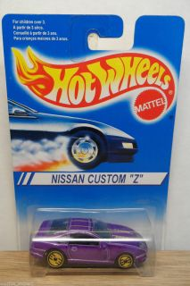 1995 INTL HOT WHEELS 1/64 BLUE & WHITE CARD NISSAN CUSTOM Z PURPLE UH