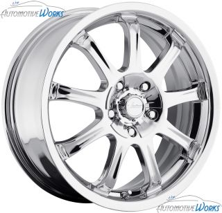 Vision 9x 5x100 5x114 3 5x4 5 42mm Chrome Wheels Rims inch 17