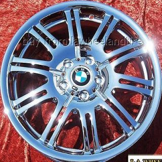New 19 BMW M3 E46 Factory Forged Chrome Wheels Rims 335i 59369