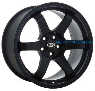 17 Rota Wheels 17x9 5x114 3 42 Grid Flat Black 2011 TC 06 Eclipse RSX