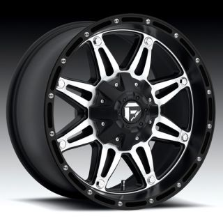 20 Wheels Rims Fuel Off Road Hostage Black with 33x12 50x20 Federal