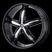 22 Helo HE844 Rims Wheels Black 22x8 5 45 5x108