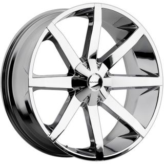 26 inch KMC Slide Chrome Wheels Rims 6x5 5 6x139 7 GX460 470 LX450