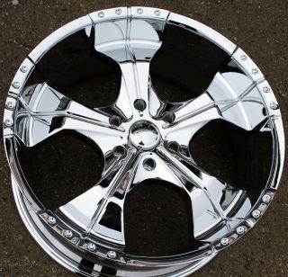 Panther Realm 280 22 Chrome Rims Wheels Toyota Tacoma Tundra 6H