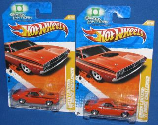 Hot Wheels Green Lantern Hal Jordans 1971 Dodge Challenger 12/50 2011