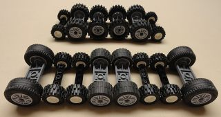 70 pc Lego Wheels Vehicle Parts Car Truck Tires & Rim Sets LOT lbs