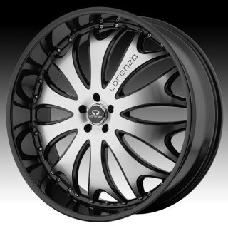 22 inch Lorenzo WL029 Black Wheels Rims 5x4 5 5x114 3 MDX RDX 200 LHS