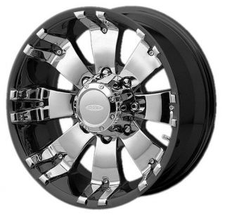DIAMO 8 KARAT 8X170 F250 F350 99 04 SUPERDUTY 2005 BLACK WHEELS RIMS